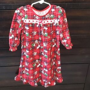 Christmas Minnie Mouse long sleeve nightgown
